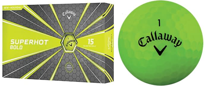 Callaway Golf Superhot Bold Matte Golf Balls - Great Value Cheap Golf Ball