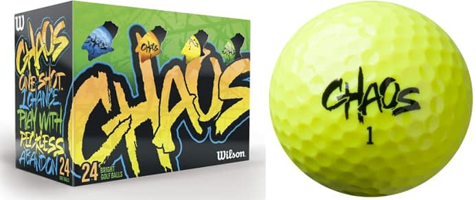 Wilson Chaos Golf Balls - Wilson Golf Balls